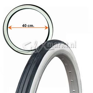 Solex 5000 (Franse & Duitse Solex 5000) buitenband 2-16'' - Zwart/Wit