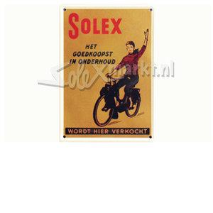 Reclamebord - Solex Goedkoopst in Onderhoud (10cm.x15cm.)