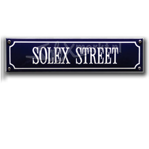 Solex emaille straatnaambord - Solex Street  (33x8cm)