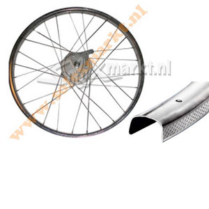 Solex 5000 achterwiel - Compleet gespaakt - (Vlakke velg) Trommelrem